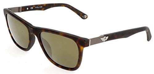 Police Sonnenbrille SPL493 Occhiali da Sole, Marrone (Brown), 54.0 Uomo