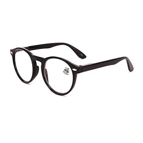 Runde Lesebrille Damen - Meijunter Retro PC Rahmen Klar Linse Leichtgewicht Leser Unisex Brillen Stärke +1.00 bis +3.50