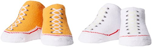 Converse 2 Pack Booties, Calze Bimba, Arancione (Vivid Orange), 0/6 mesi (Taglia Produttore: 0-6M)