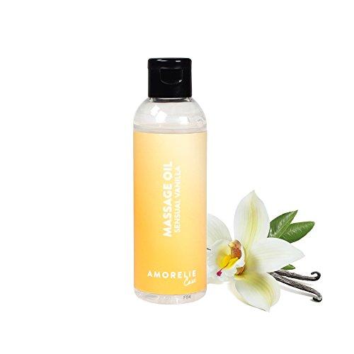 Amorelie Basics Sensual Vanilla Massageöl (100 ml) – feuchtigkeitsspendendes, nicht klebendes...