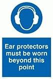 Viking Schilder mp261-a6p-v Gehörschutz zu tragen, Beyond This Point-Zeichen, Vinyl, 150mm H x 100mm W