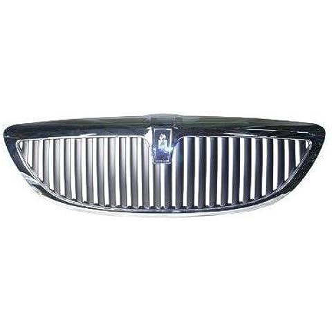 Griglia Lincoln Town Car ARGENT con telaio cromato, barre, senza EDITION. edizione (Numero produttore EMBLEMS/LOGOS. sono marchio PROTECTED.) Headlights Depot - Lincoln Town Car Radiatore