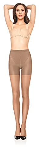 Spanx Original Womens Nylon Sheers for Firm Bottom, Thighs & Legs Control with Tummy Panel & Invisible Reinforced Toe for a Glamorous Look 913I - Nude - Size