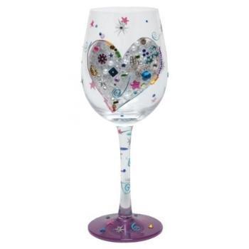 Lolita Love My Copa de vino (Cristal, Plateado, forro, jardín, céspe
