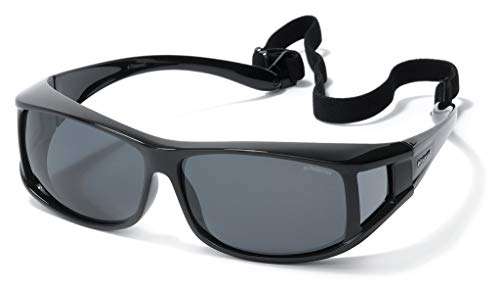e666026913 Polaroid Suncovers Fitover Sunglasses P8901 KIH Y2 Black Grey Polarized