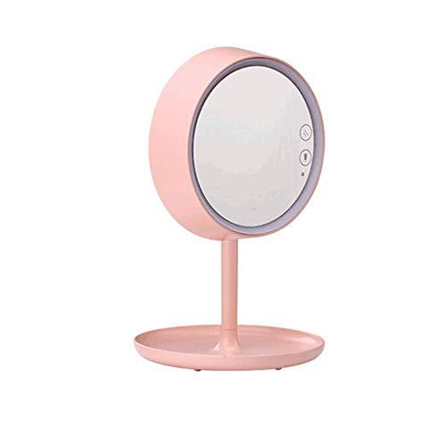 GZ Spiegel-LED-Licht-Makeup 360 Grad-Umdrehungs-Bildschirm Dimmable Frauen-Mädchen-Geschenk,Rosa,1