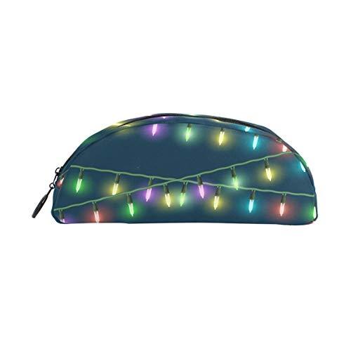 Federmäppchenhalter, bunte Weihnachtsbeleuchtung, Stiftebeutel mit Reißverschluss, Make-up für Kinder Mädchen Jungen -