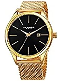 Akribos XXIV Men's Quartz Stainless Steel Casual Watch, Color Gold-Toned (Model: AK959YGB)