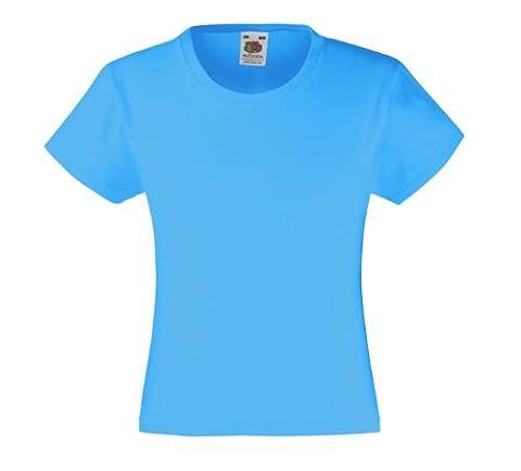 Mädchen T-Shirt Girls Kinder Shirt - Shirtarena Bündel 116,Azurblau