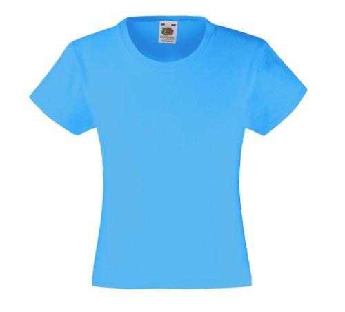Mädchen T-Shirt Girls Kinder Shirt - Shirtarena Bündel 152,Azurblau
