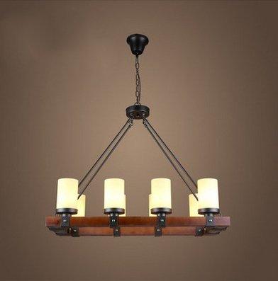 Quadratische Kronleuchter Pendent Licht Retro Rustikale Loft Antik Lampe Edison Vintage Rohr Wandleuchter Dekorative Leuchten Und Deckenleuchte Leuchte, 8 Licht ()