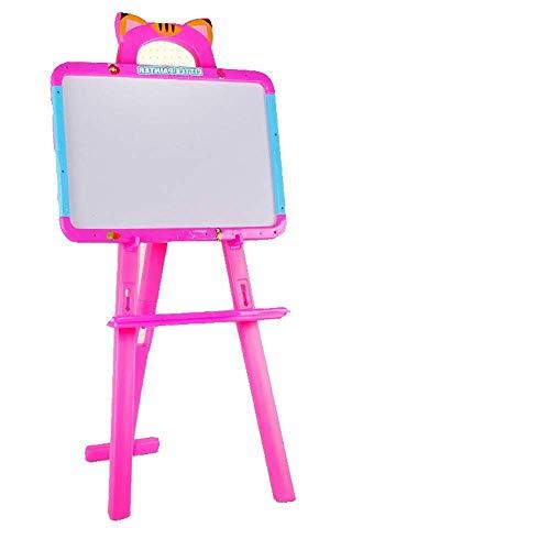 HBSCB Kinder Tafel Whiteboard Staffelei - 3 in 1 Reversible Kreide, magnetische trocken löschen und Paint Board mit Kreide, Radiergummi und 84 Magnet Zahlen, Buchstaben - Trockenen Löschen-board Magnet