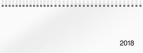 rido/idé 703650100 Tischkalender/Querterminbuch Modell Sequenz, 2 Seiten = 1 Woche, 297 x 105 mm, Karton-Einband Trucard weiß, Kalendarium 2018, Wire-O-Bindung