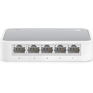 TP-Link TL-SF1005D - Conmutador Fast Ethernet con 5 Puertos (10/100 Mbps, Divisor de Ethernet y Escritorio, Concentrador de ethernet, Plug and Play, Bastante, sin Ventilador, No Gestionado) (B000FNFSPY) | Amazon price tracker / tracking, Amazon price history charts, Amazon price watches, Amazon price drop alerts