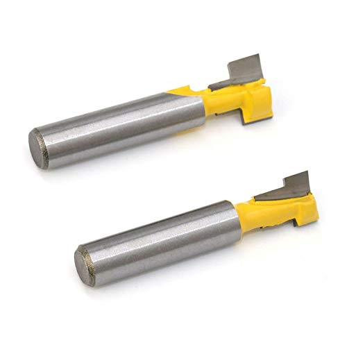 Peanutaoc 2 STÜCKE 8mm Schaft T-Nut Fräser Holzschneider Holzfräser Fräser mit Hoher Zähigkeit Mayitr