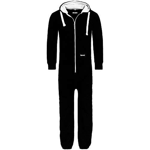 PAULGOS Herren Jumpsuit Jogger Jogging Anzug Trainingsanzug Overall in 4 Farben Gr. S-XXL, Farbe:Schwarz, Größe:M