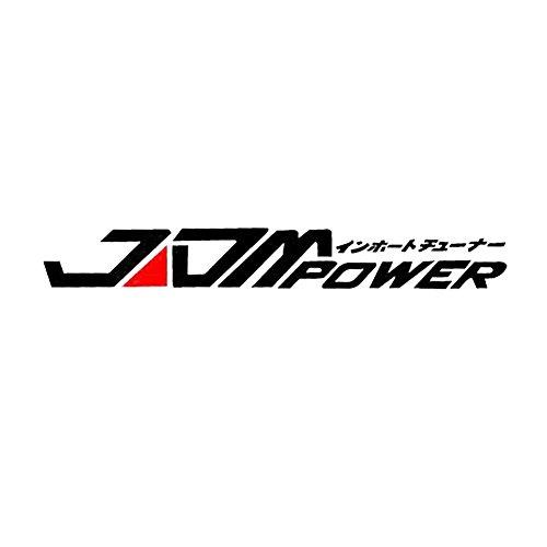 Dandeliondeme JDM Power Auto Aufkleber Fenster Stoßstange für Toyota Honda Volkswagen Mitsubishi für Notebook Skateboard Snowboard Gepäck Koffer MacBook Auto Fahrrad Stoßstange Schwarz (Mitsubishi Auto Aufkleber)