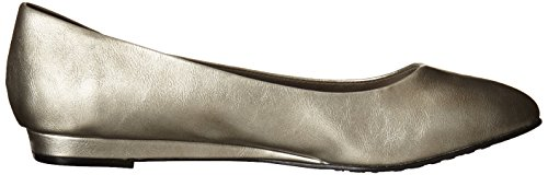 Soft Style by Hush Puppies Women's Darlene Wedge Pump, Mid Brown Leather, 10 M US Dark Pewter