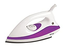 Hi Choice 1000 Watt Dry Iron (White and Purple Color)