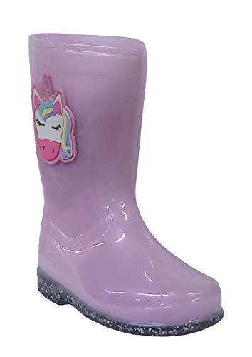 Kids Girls Childrens Rubber Rain Snow Boots Wellies Wellingtons Waterproof Peppa Pig Peter Rabbit Unicorn Harry Potter