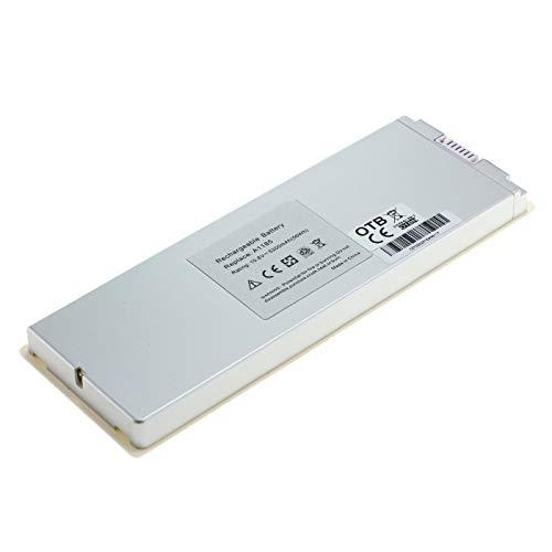OTB–Batería Compatible con Apple MacBook 13Pulgadas (2006–2009) Polímero de Litio de Color Blanco Negro