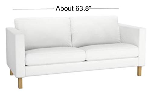 Karlstad 2-Sitzer Loveseat Sofabezug aus Schwerer Baumwolle (Breite des Sofas 162 cm), Ersatz für IKEA Karlstad Schonbezug weiß