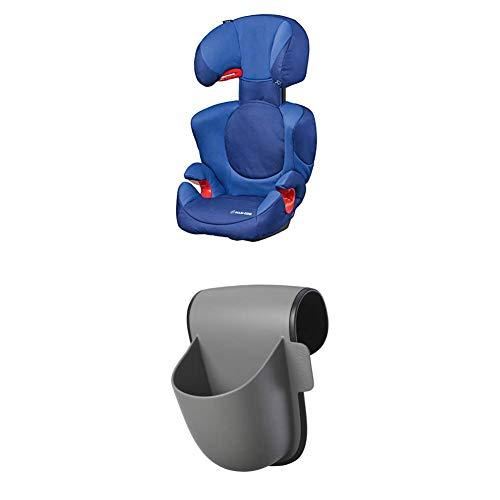 Maxi-Cosi Rodi XP Kindersitz, mitwachsender Gruppe 2/3 Autositz (15-36 kg), nutzbar ab 3,5 bis 12 Jahre, electric blue + Maxi-Cosi Pocket Becherhalter, grau Electric Pocket