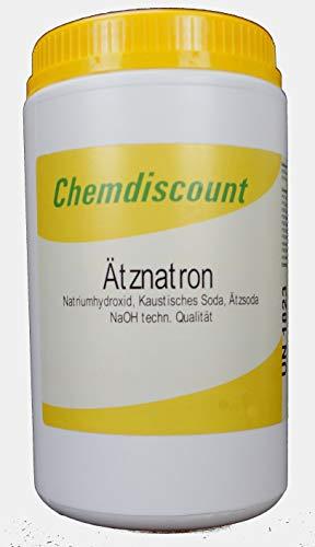 1kg Ätznatron in stabiler Dose (NaOH Natriumhydroxid) Mikroperlen versandkostenfrei!