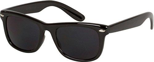 Boolavard SCHWARZ Sonnenbrille UV400 UNISEX RETRO 80 Geek Schattierungen Aviator Männer Frauen