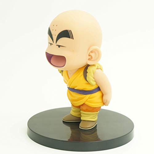 JSSFQK Qilongzhu Wudao Youth Goku Kulin doll Model 12 cm Goku Q version Statue Anime Ornaments Decorative Toy (Color: B)
