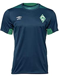 Umbro Hombre Fútbol SV Werder Bremen Entrenamiento Camiseta Manga Corta  Camiseta Azul Verde 10e56c99f20f7