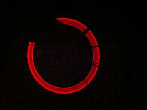 2 Stück Leuchtende LED Ventilkappen Fahrradbeleuchtung Speichenlicht Stylisch Felgen Beleuchtung ROT - RBrothersTechnologie