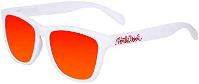 Northweek Regular Matte White - Red Polarized - Gafas de sol unisex, blanco