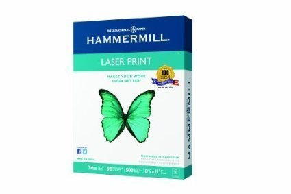 4 X Hammermill Laser Print, 24lb, (8.5 x 11) inch, 98 Bright, 500 Sheets/1 Ream (104604) by Hammermill (Lb Laser 24 Hammermill Print)