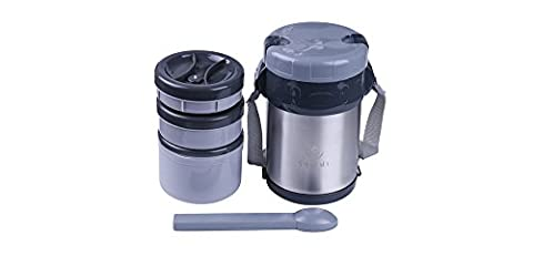 3 Tier Vacuum Insulated Japanese Bento Lunch Box Compartment Jar
