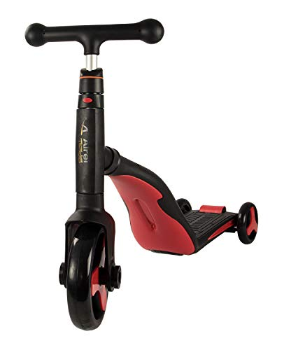 Airel Scooter 3 in 1 | Roller Für Kinder | Scooter 3 Räder Kinder | Fahrrad ohne Pedale | Tretroller mit verstellbarem Sitz