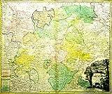 Das Land Thüringen 1738 (Thüringen Tabula). Historische Landkarte: Landgravitus Thuringiae Tabula Generalis in suos Principatus Et Status accurate divi per loh. Bapt. Homann Noriberg -