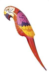 Smiffys 29032 - Parrot Aufblasbare, Action Dress Ups und Zubehör, 116 cm, rot/orange/gelb