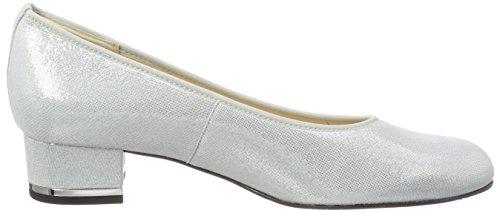 Hassia Vicenza, Weite G, Zapatos Cerrados De Tacón Blanco Mujer (weiss)