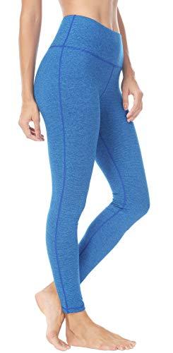 Jersey Yoga Capri Pant (QUEENIEKE Damen Power Flex Yoga Hosen Training Laufende Leggings Farbe Blauer Streifen Größe XL(14))