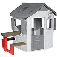 Smoby Mesa de Exterior para Jura Lodge II (810902) Accesorio casita Color Rojo (
