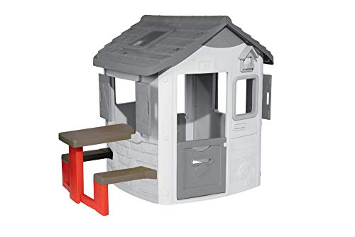 Smoby 810902 Neo Jura Lodge Picknicktisch, rot, grau - Zubehör Picknick-tisch