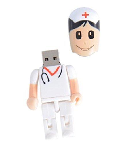 qingsun 16g 16GB Kreative Kunststoff Arzt und Krankenschwester Spielzeug Form USB Flash Drive USB Flash Disk Pen Drive Memory Stick Pen Drive Jump Drive Thumb Stick (Jump G 16 Drive)