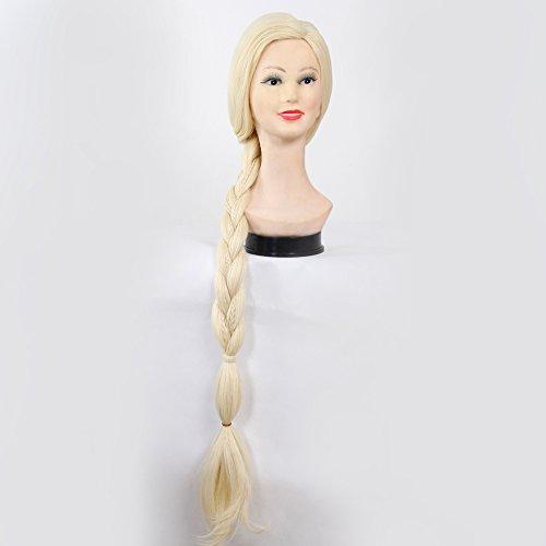 Blonde Perücke Flip (stfantasy Perücken für Frauen lange Gerade Hitzebeständiges Kunsthaar 88,9cm 240.3G Braid Perücke blond peluca gratis Haarnetz +)