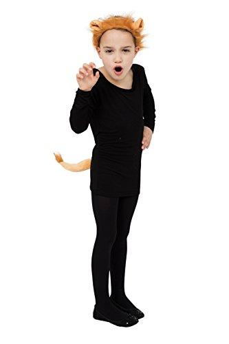Kostüm Lion Ohren Schwanz Und - Lion Set (Ohren + Schwanz) Kostüm für Tier Katze Oz Kostüm Outfit Set Satz