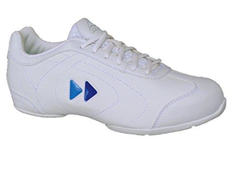 Kaepa Damen Delta Cheer Schuh mit Farbe ändern Snap In Logo, damen, weiß