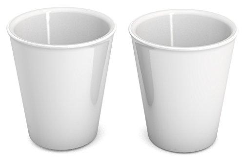 l weiß, 2er Set | hochwertiger, stabiler Coffee to go Becher aus Kunststoff für zuhause und unterwegs| nachhaltiger Mehrwegbecher auch für Cocktail, Smootie und Heißgetränke | Ökobecher, Partybecher, Biobecher, Kaffeebecher (Kunststoff-becher Mit Henkel)