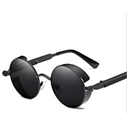 TONY STARK® Round Steampunk Sunglasses (Black)
