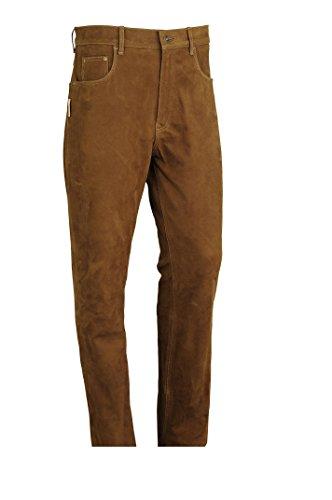 FuenteLederhosen Pantaloni in pelle bootcut Pantaloni da donna in pelle per uomo, pantaloni in pelle per donna Molletta Moto, Moto, Bicicletta, equitazione, Trachten Cognac