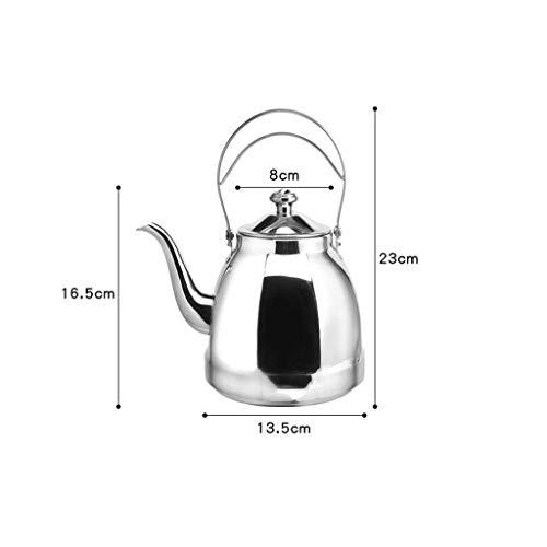Marceooselm Kessel-Teekanne des Edelstahl-1.5L mit Filter-Brauen-Topf, großer Durchmesser-Entwurf, Bequeme Wasserversorgung, Ihre Bedürfnisse zu erfüllen - Brauen Topf